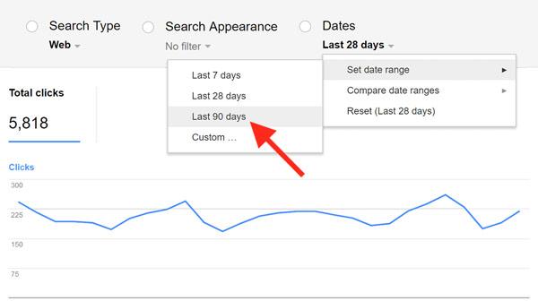 گزارش عملکرد گوگل وب مستر