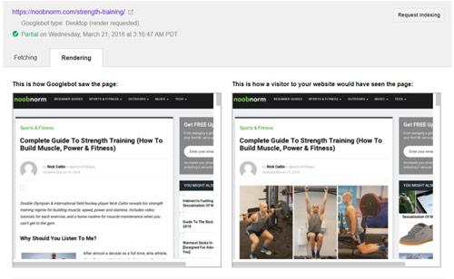مشاهده تفاوت های سایت از دید کاربر و از دید گوگل