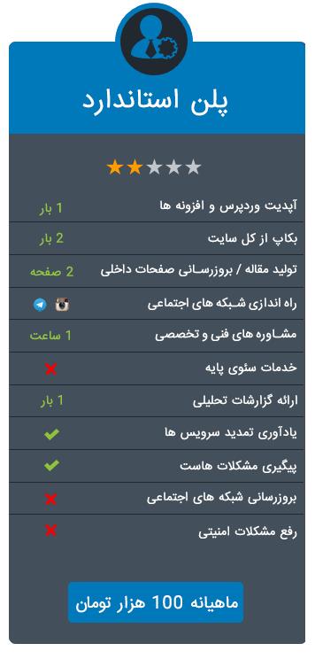 مدیریت سایت ساده و ارزان