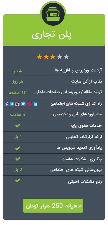 مدیریت سایت پیشرفته