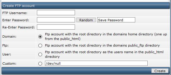 ایجاد حساب کاربری ftp در directadmin