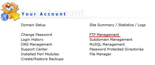 حساب کاربری FTP در دایرکت ادمین