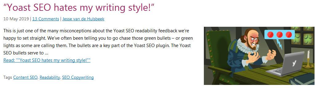 مقالات وب سایت seo yoast