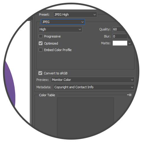 تغییر فرمت و کیفیت تصویر در فتوشاپ - بهینه سازی تصاویر