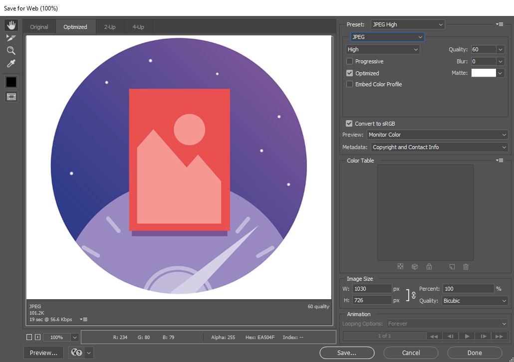 کاهش حجم و سایز تصاویر در فتوشاپ