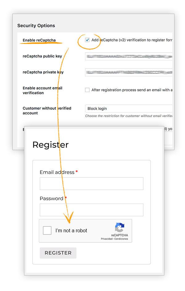 کد کپچا در ثبت نام