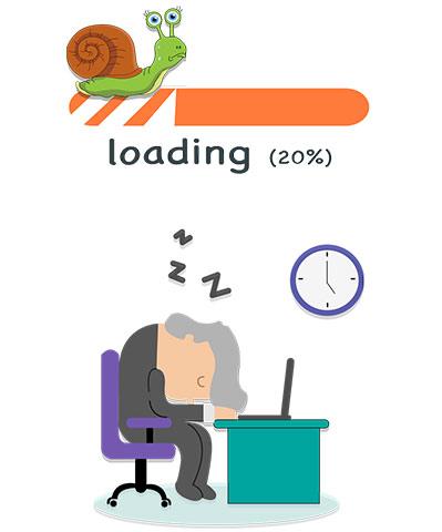 مشکلات فنی سایت - کاهش سرعت لود سایت